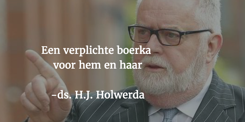 Dominee Holwerda: stel de boerkini verplicht voor iedereen