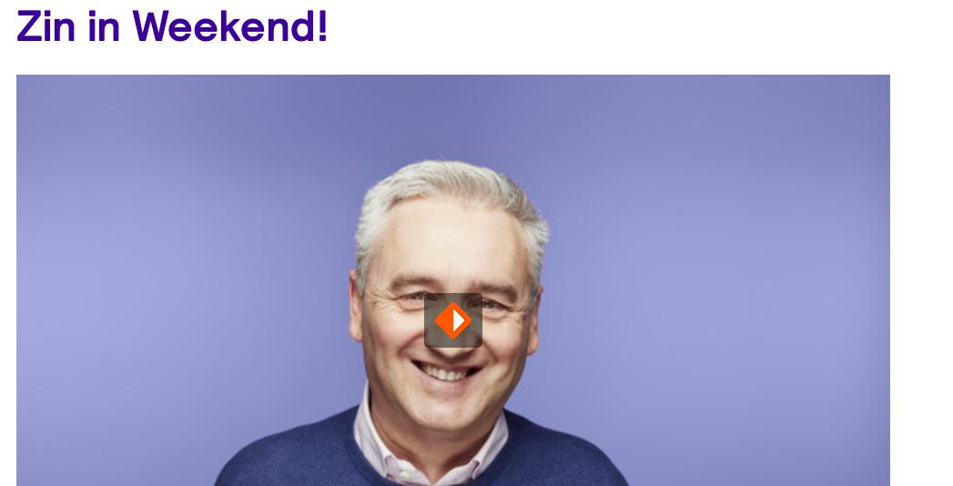 Bij Zin in Weekend (radio 5) over Pauw en kerst en alles